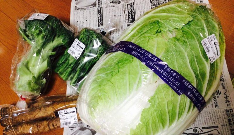 あぐりの里で大きな白菜をゲット!