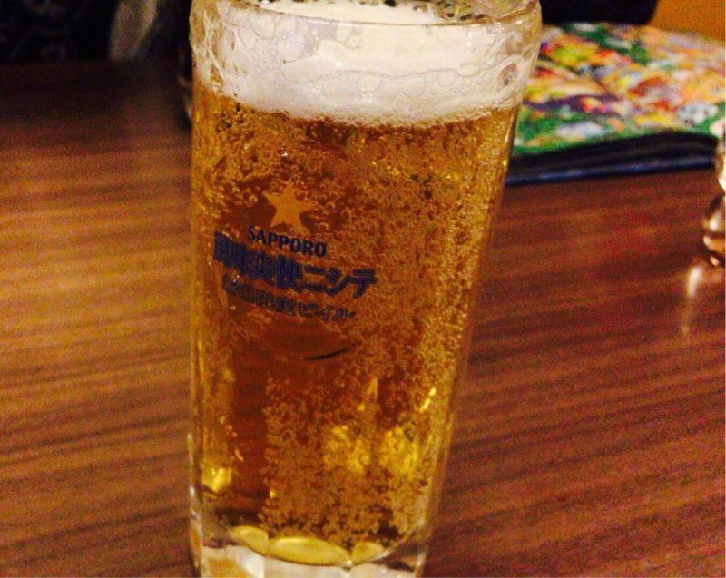夜の三宝亭で風味爽快ニシテを飲む!
