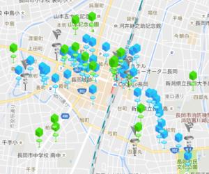 長岡駅周辺ポケストップ