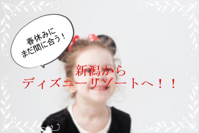 【春休み】新潟から東京ディズニーリゾートへ1番お得に行く方法
