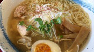 「麺や ようか 」定番鶏しおラーメンと女性に好評のデザート杏仁豆腐