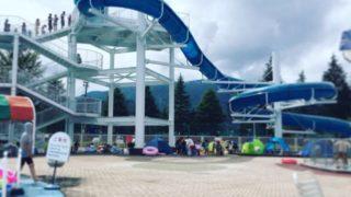 湯沢町「レジャープールオーロラ」のウォータースライダーで夏休みを満喫!