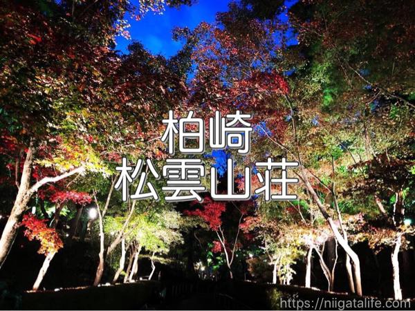 松雲山荘紅葉ライトアップを散策。柏崎の秋の演奏会とともに。