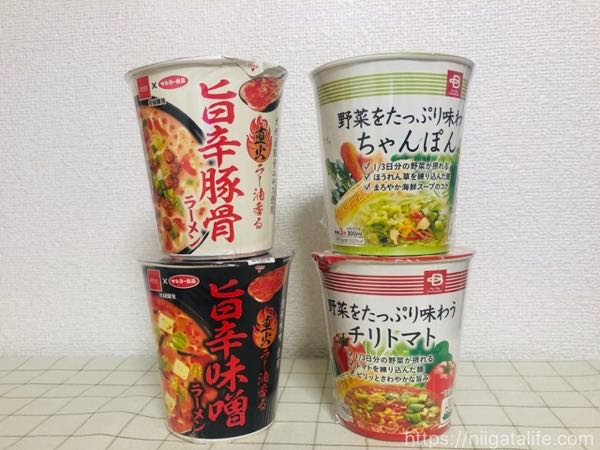 【ベイシア】格安カップ麺4種を食べ比べ!
