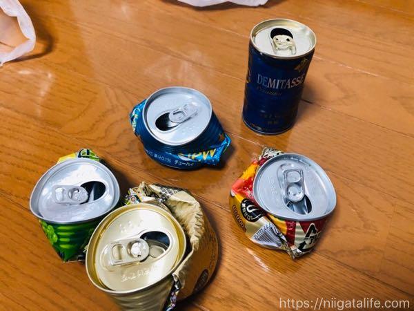ゴミ削減!缶ペットボトルつぶしてゴミ削減