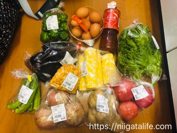 長岡なじらーて夏野菜どっさり買った!
